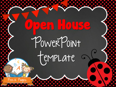 Ladybug Open House Presentation Template for Preschool and Kindergarten