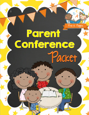 Printable Parent Conference Packet for #preschool #kindergarten teachers