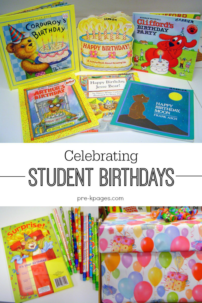 Classroom Birthday Party ~ Celebrating student birthdays in preschool pre k and