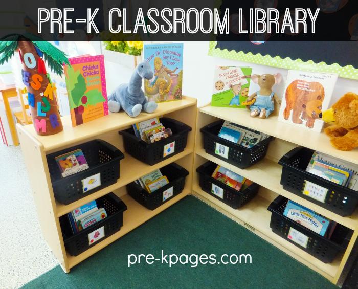 Classroom Game Ideas For Kindergarten ~ Classroom library center in preschool pre k and kindergarten