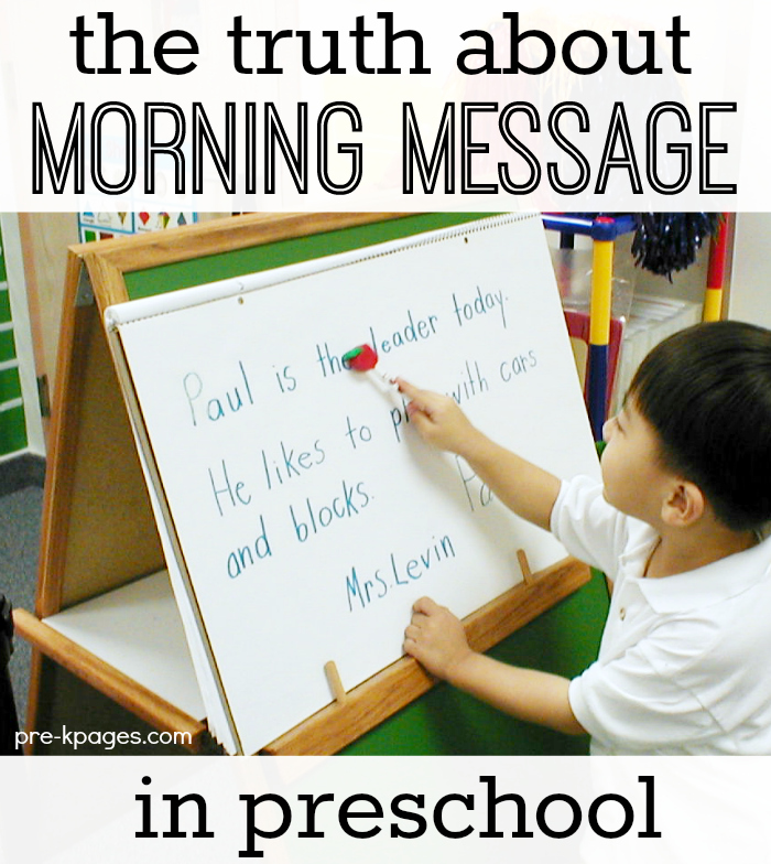Pre k literacy morning message pre kpages preschool morning message m4hsunfo