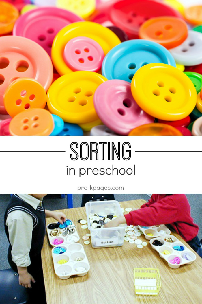 Teaching Sorting Skills in Preschool