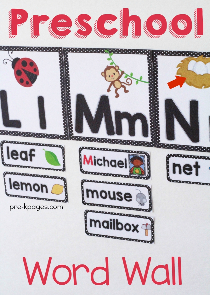 Using a Word Wall in Pre-K