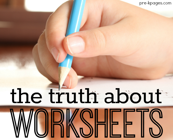 Using Worksheets in Preschool