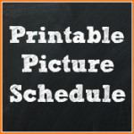 Printable Picture Schedule Cards