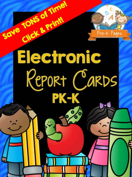 Printable Preschool Report Card