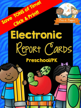 Printable Preschool Report Card