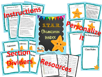 Printable Parent Communication Notebook: STAR theme