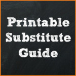Printable Substitute Lesson Plans