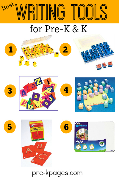 Writing Tools for Pre-K and Kindergarten Writing Center