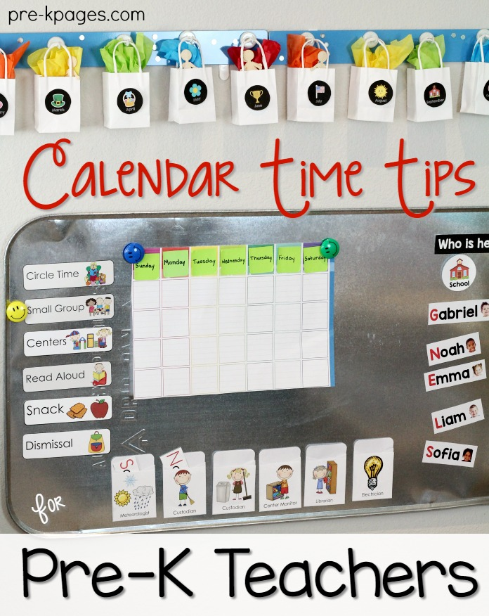 Kindergarten Calendar Center : Calendar time tips for pre k teachers