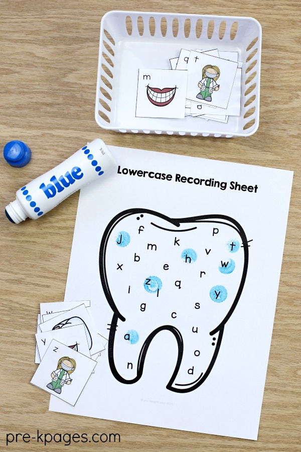 Dental Health Alphabet Activity