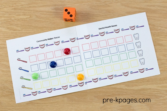 Dental Health Board Game for Preschool