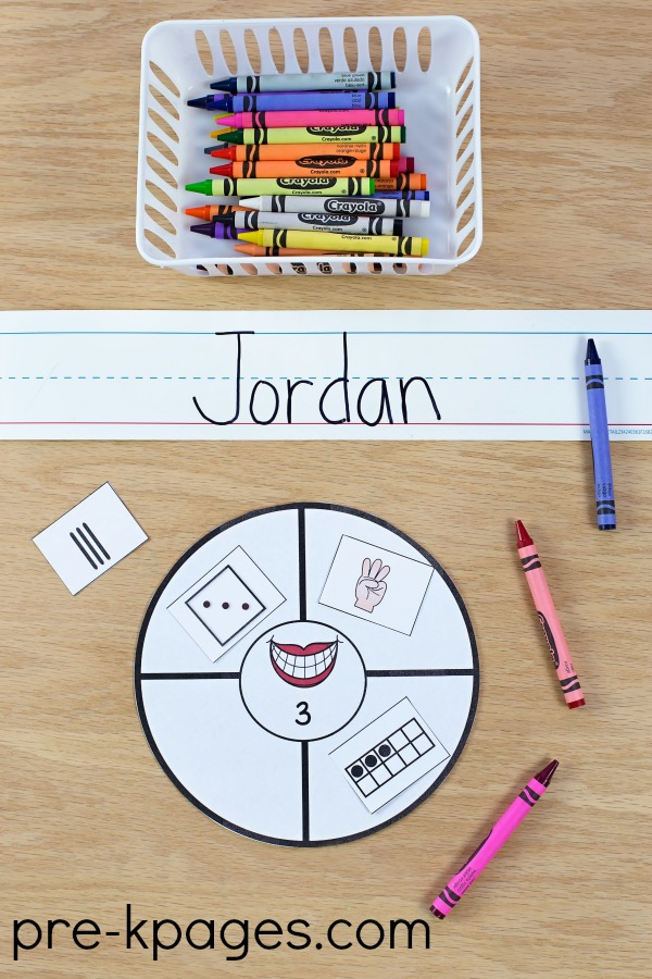 Dental Health Number Sense Game for Preschool