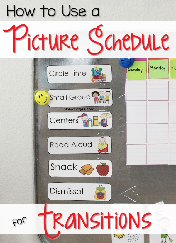 Picture schedule cards for preschool and kindergarten for Kindergarten timetable template