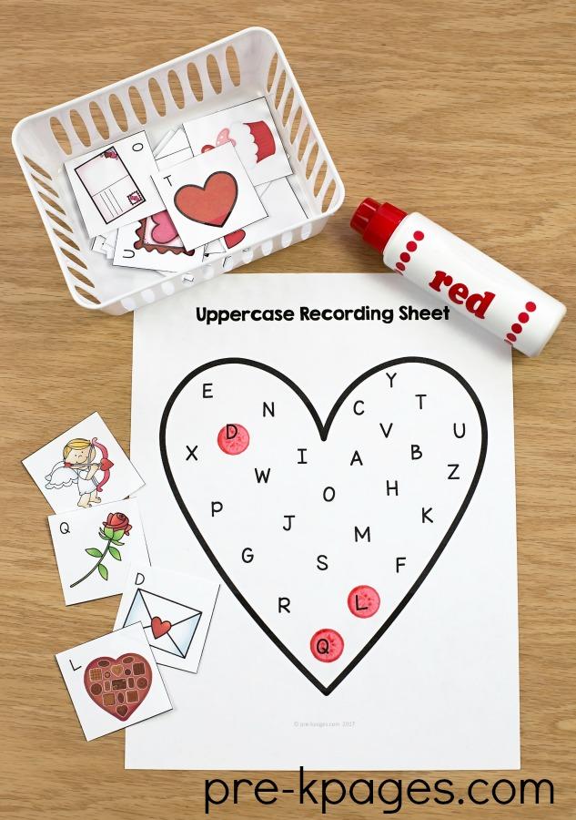 Printable Alphabet Valentine Game