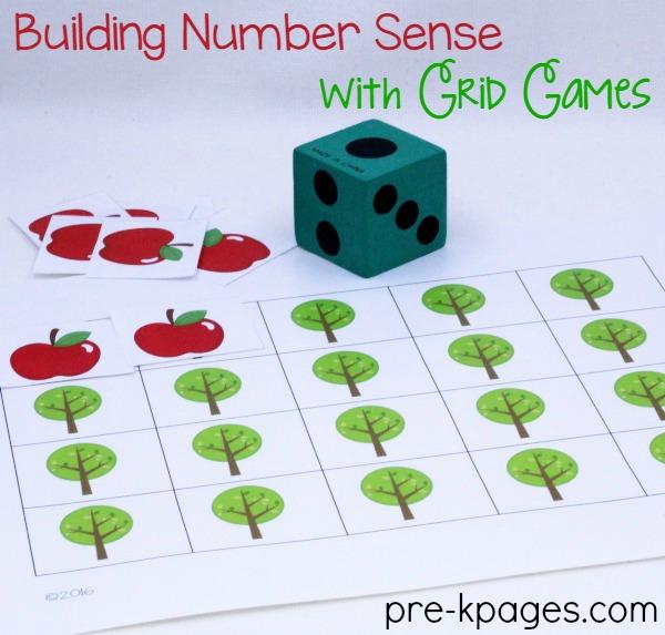 Printable Apple Grid Game