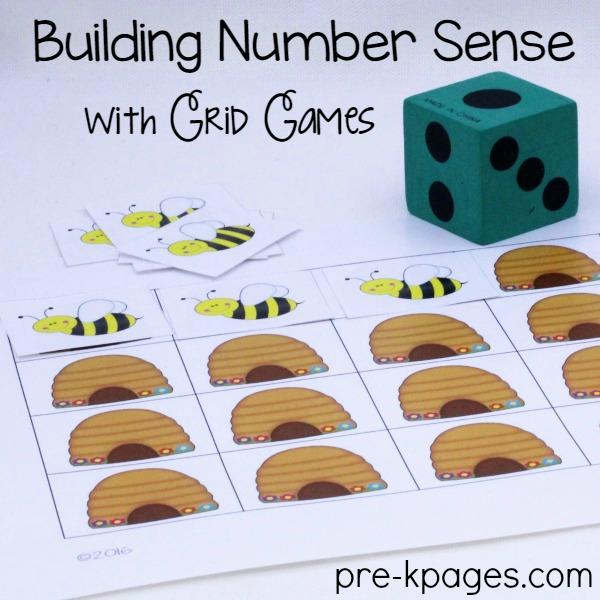 Printable Bee Grid Game