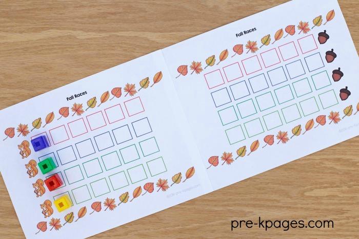 Printable Fall Group Board Game