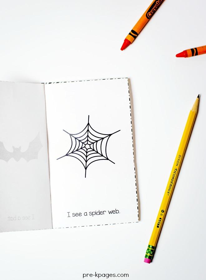 Printable Halloween Emergent Reader for Preschool and Kindergarten
