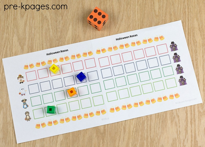 Printable Halloween Path Game for Preschool
