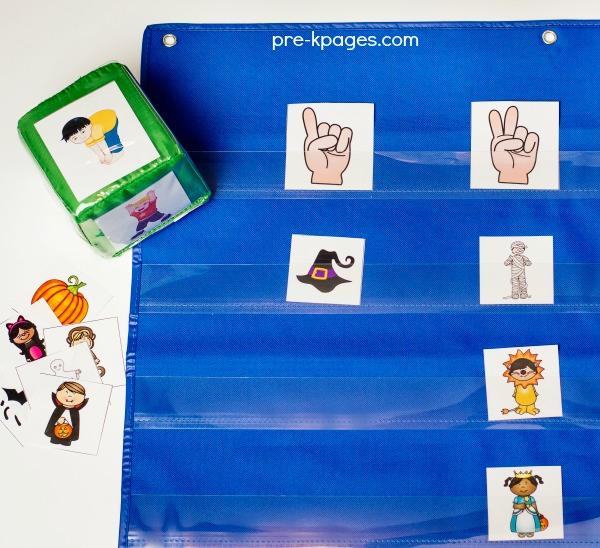 Printable Halloween Syllable Game for Preschool and Kindergarten