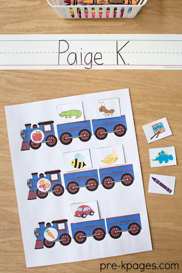 Printable Transportation Beginning Sounds Game for Preschool and Kindergarten