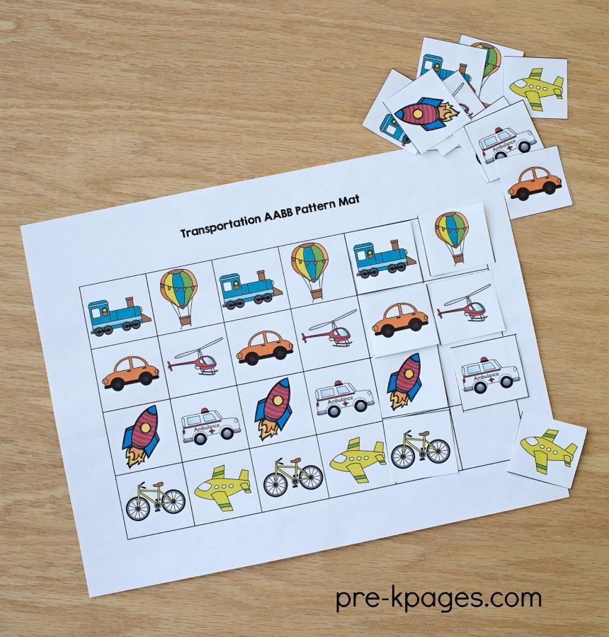 transportation preschool theme activities. Black Bedroom Furniture Sets. Home Design Ideas