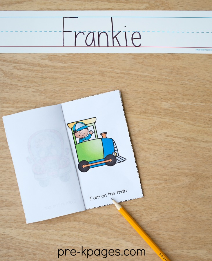 Printable Transportation Theme Emergent Reader for Preschool and Kindergarten