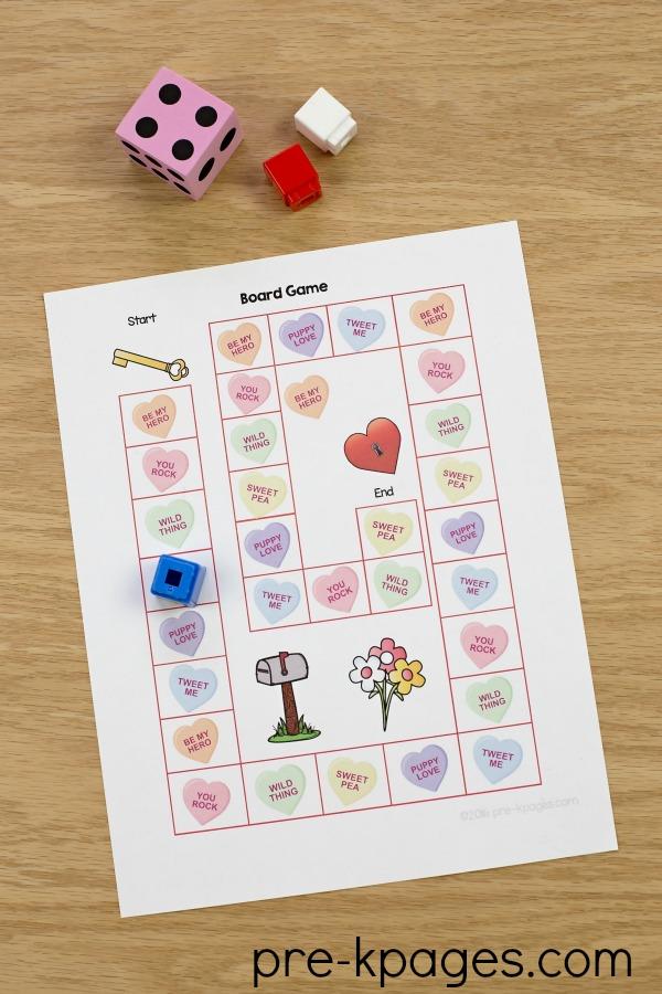 Printable Valentine Board Game