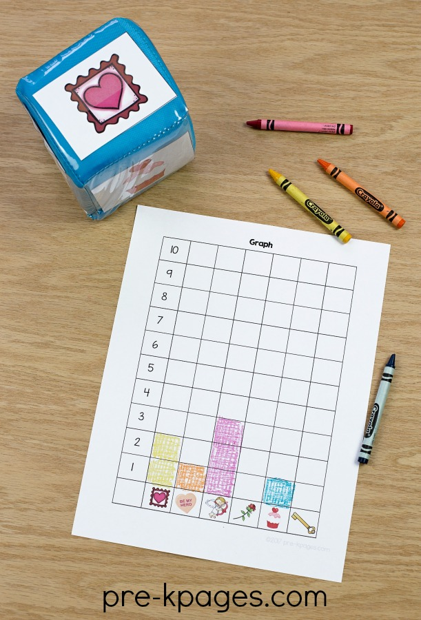 Printable Valentine Graphing Activity for Preschool