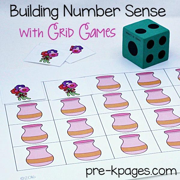 Printable Valentine Grid Game for Preschool