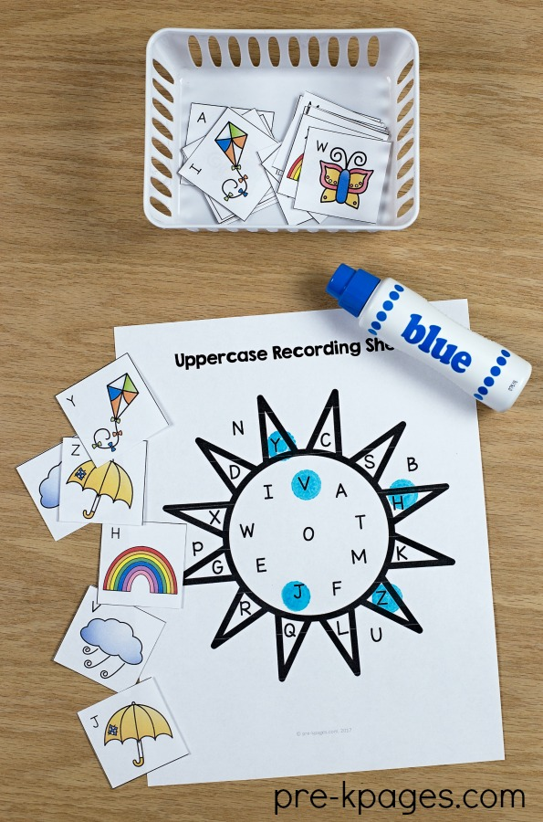 Printable Spring Printable Alphabet Game