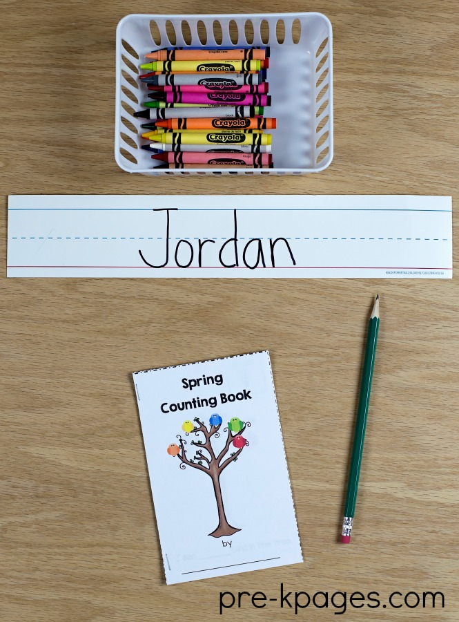 Spring Printable Counting Book