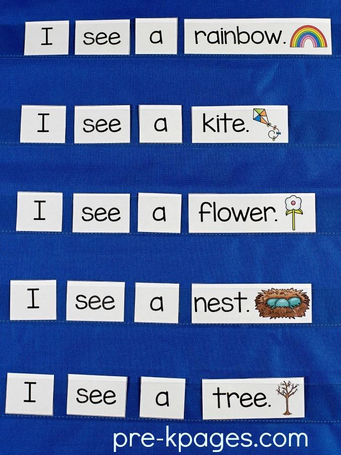 Spring Printable Sentences