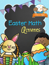 Printable Easter Math Activities for #preschool and #kindergarten