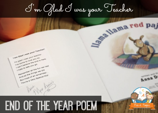 I'm Glad I was your Teacher Poem