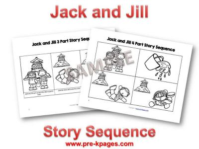 Pre-K Nursery Rhymes: Jack and Jill @pre-kpages.com