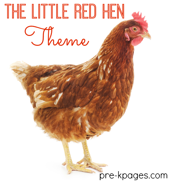 Little Red Hen Learning Activities for Preschool and Kindergarten