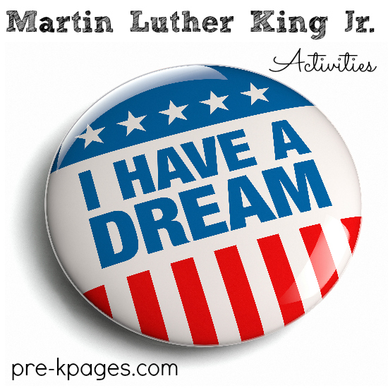 Martin Luther King Jr Theme Activities For Preschool And Kindergarten