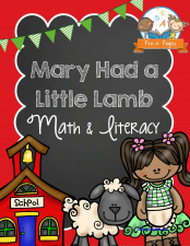 Mary Had a Little Lamb Literacy and Math Printables