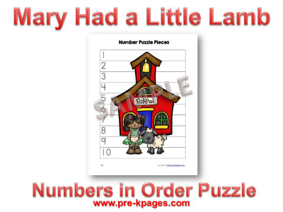 Mary Had a Little Lamb Number Puzzle