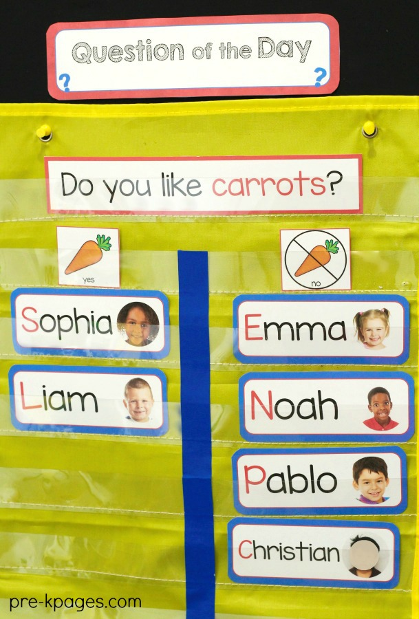 Question of the Day in Preschool and Pre-K