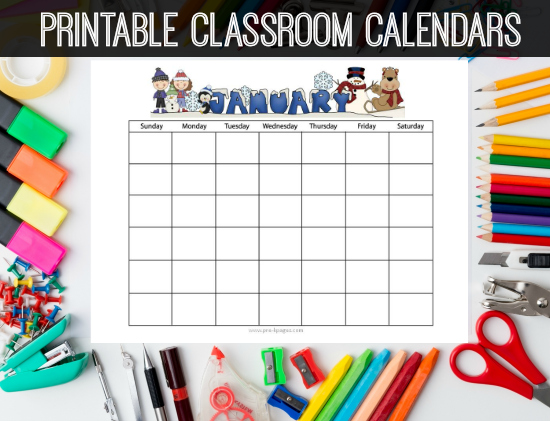 Classroom Calendar Template : Printable homework calendars preschool kindergarten