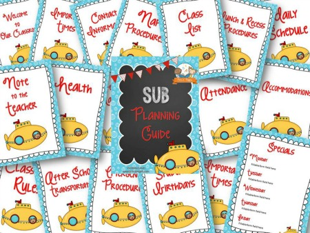 Printable Substitute Planning Guide for Preschool and Kindergarten