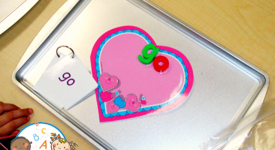 Magnetic Valentine Sight Words