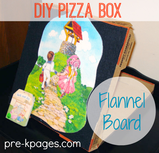 How to Make a Flannel Board from a Pizza Box in #preschool and #kindergarten