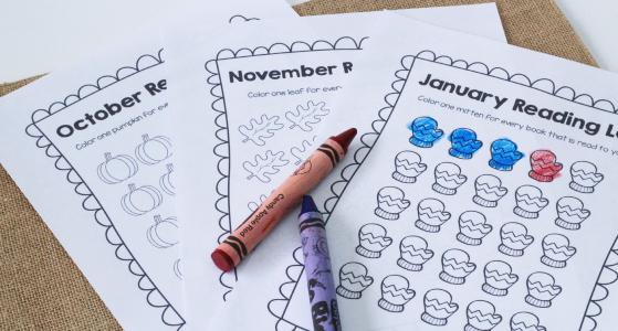 Printable Reading Logs for Preschool and Kindergarten