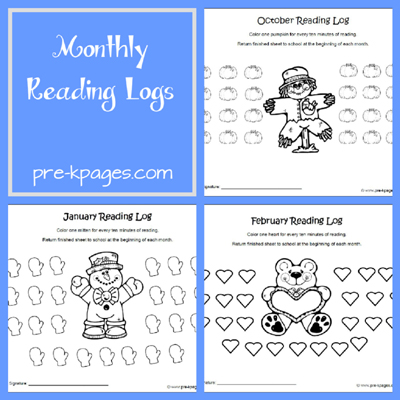 Kindergarten+Reading+Log+Printable Printable Reading Logs for ...