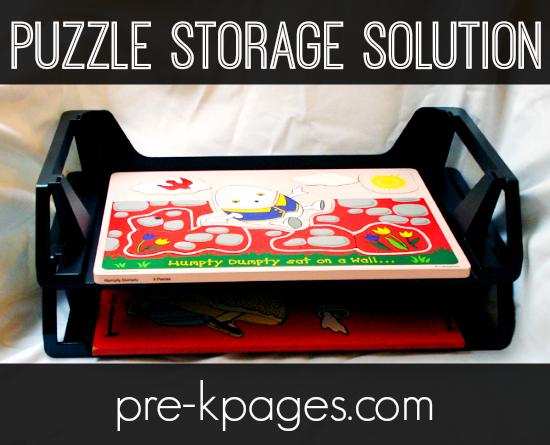 Easy Puzzle Storage Solution